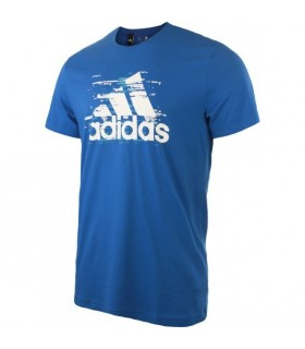 Adidas T-Shirt Ess Logo Men Blue | My-squash.com