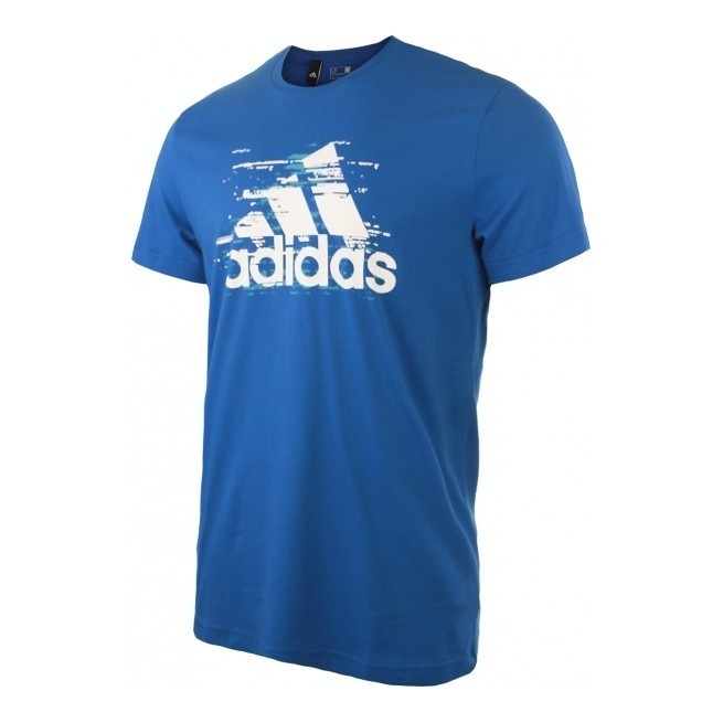 Adidas T-Shirt Ess Logo Men Blue | My-squash.com