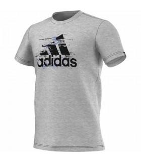 Adidas T-Shirt Ess Logo Homme Gris | My-squash.com