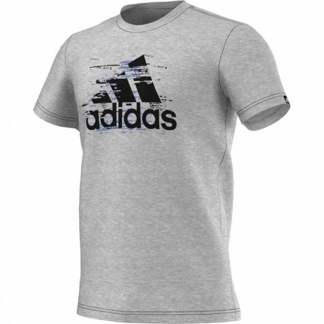 Adidas T-Shirt Ess Logo Men Grey | My-squash.com