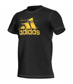 Adidas T-Shirt Ess Logo Homme Noir | My-squash.com