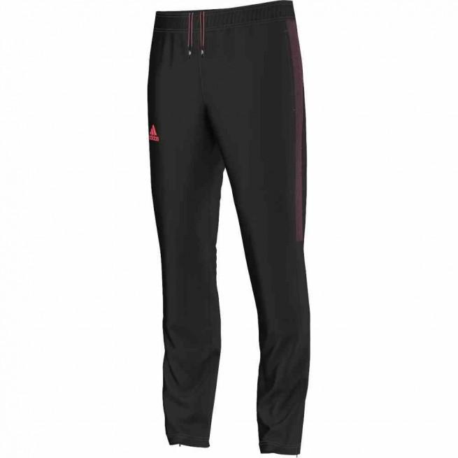 Adidas Barricade Pantalon pour Homme Noir/ Rouge   My-squash.com