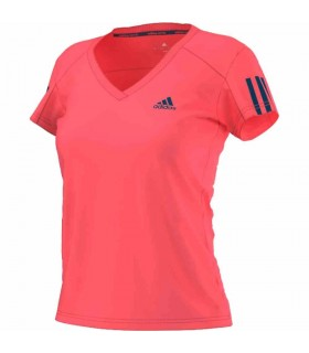 Adidas Club T-Shirt Women (FLASH RED S15 / TECH STEEL F16) | My-squash.com