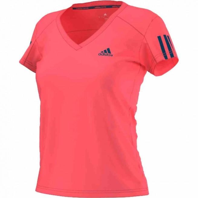 Adidas Club T-Shirt Women (FLASH RED S15 / TECH STEEL F16) | My-squash.com