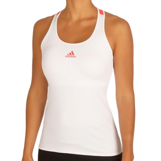 Adidas Pro Tank Top Femme Blanc | My-squash.com