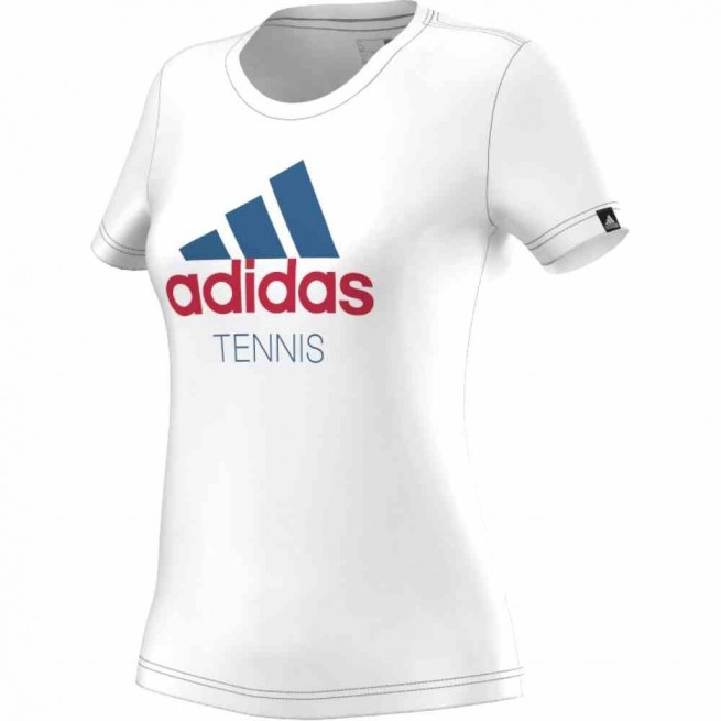 Adidas Tennis T-Shirt Femme Blanc | My-squash.com