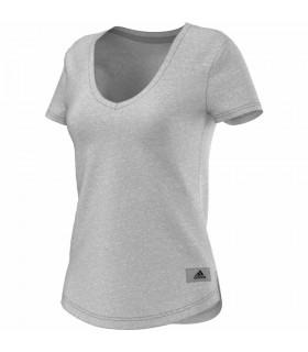 Adidas Logo V T-Shirt Femme Gris | My-squash.com