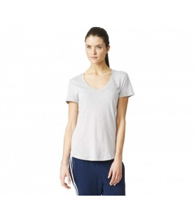 Adidas Logo V T-Shirt Women (Solid Grey) | My-squash.com