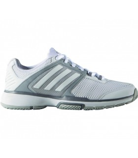 Adidas Barricade Club Women squash shoes White / Silver | My-squash.com