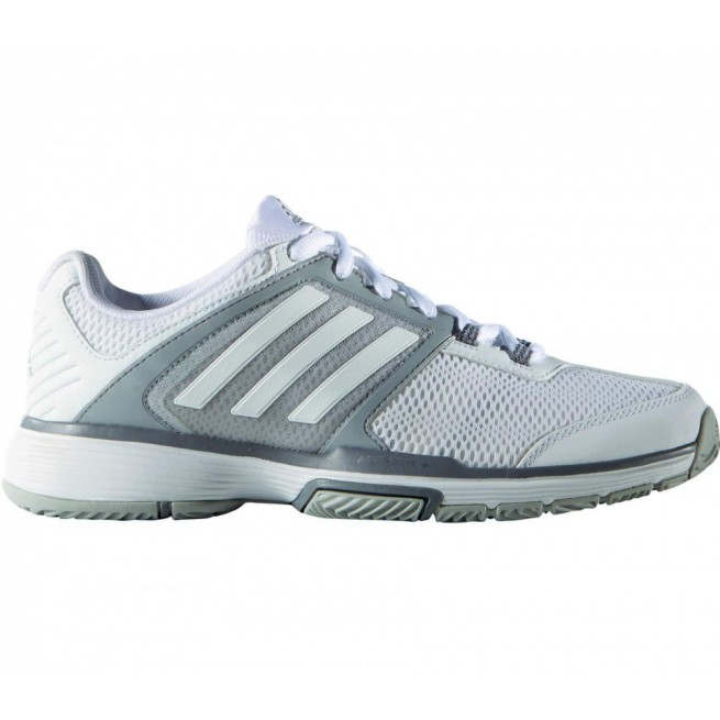 Chaussure squash Adidas Barricade Club Femme Blanc / Argent | My-squash.com