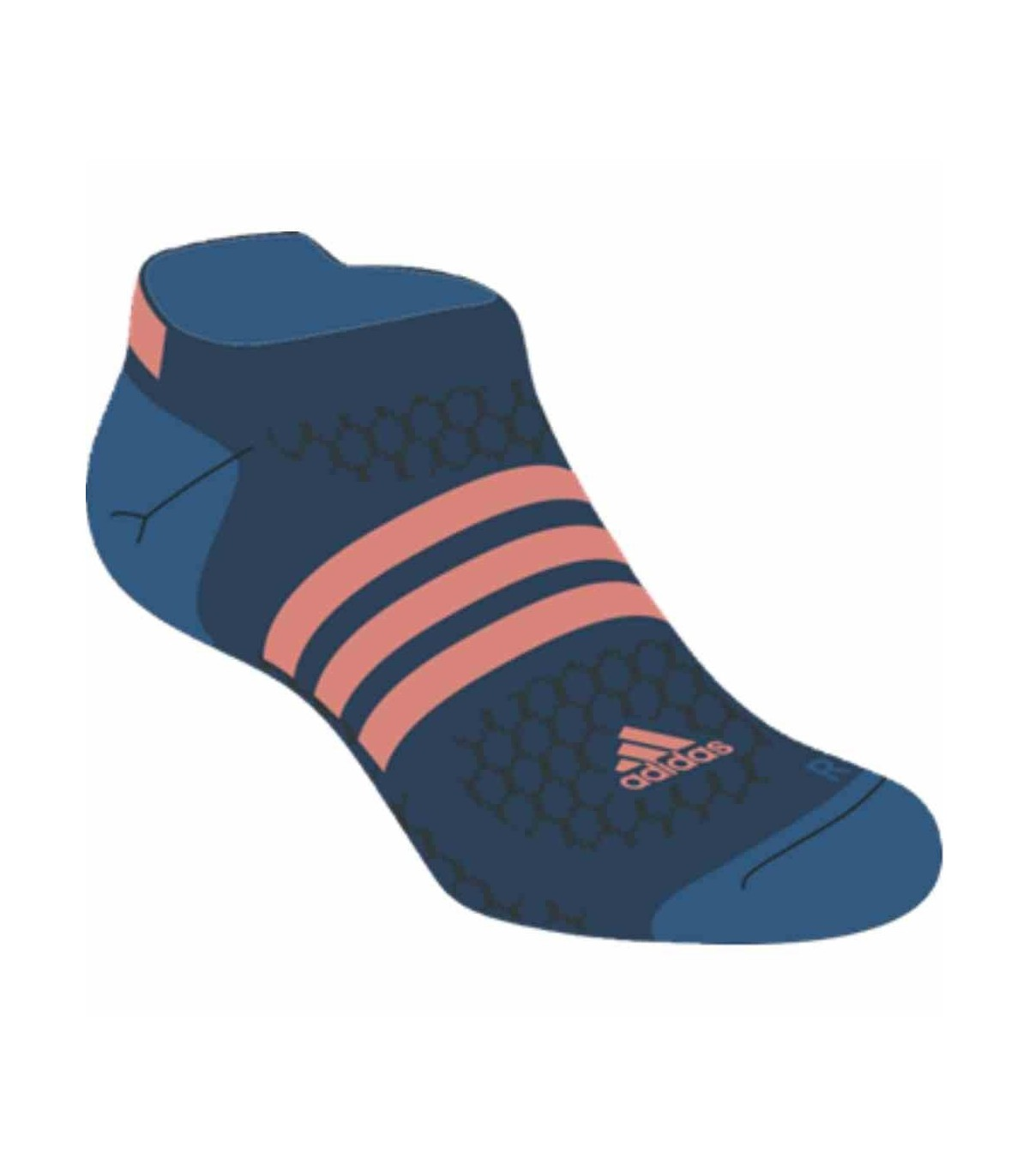 chaussettes de squash adidas id liner bleu fonc bleu rouge fluo. Black Bedroom Furniture Sets. Home Design Ideas