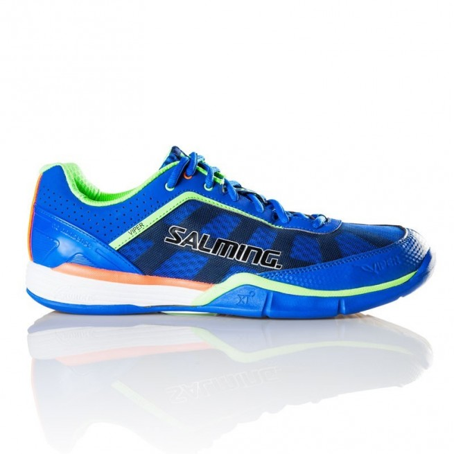Salming Viper 3 Royal/Gecko Green squash shoes | My-squash.com