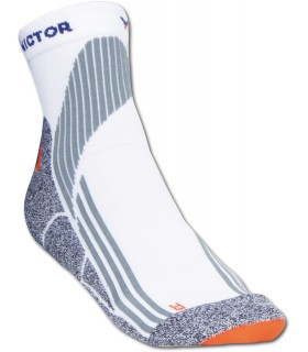 Victor Indoor Explosion (White/Grey/Orange) squash socks