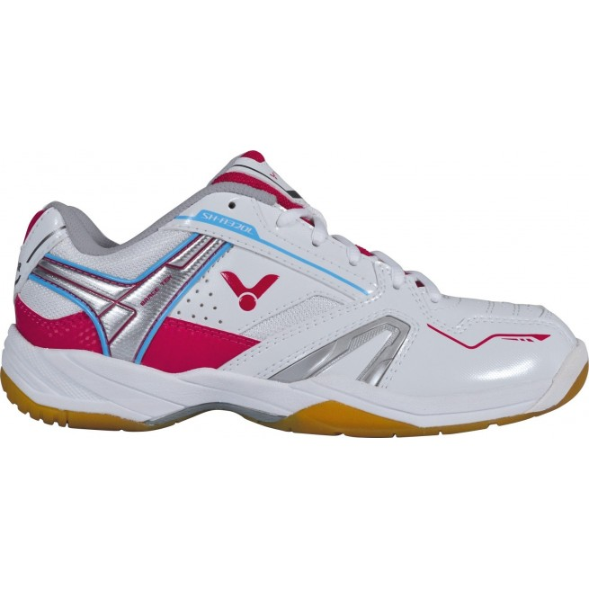 Victor SH-A320L Pink/White Squash shoes | My-squash.com