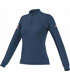 Adidas Club 1/2 Zip Midlayer Women (TECH STEEL F16 / White)