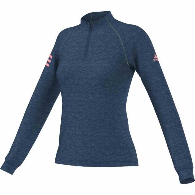 Adidas Club 1/2 Zip Midlayer Femme Bleu | My-squash.com