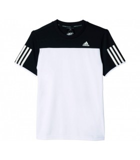 Adidas T-Shirt Club Junior Blanc/ Noir | My-squash.com