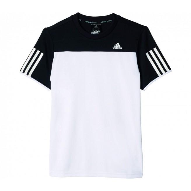 Adidas T Shirt Club Junior Blanc Noir