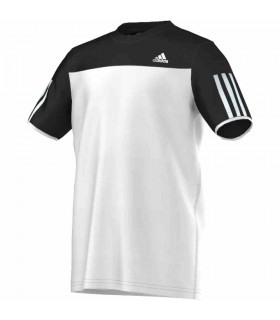 Adidas T-Shirt Club Junior White/ Black | My-squash.com