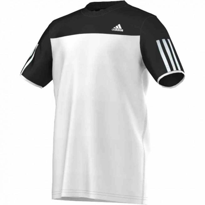 Adidas T-Shirt Club Junior Blanc/ Noir | My-squash.com