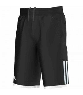 Adidas Short Club Bermuda Junior Noir/ Blanc | My-squash.com
