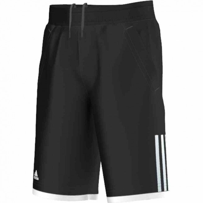 Adidas Short Club Bermuda Junior Noir/ Blanc | My-squash.com