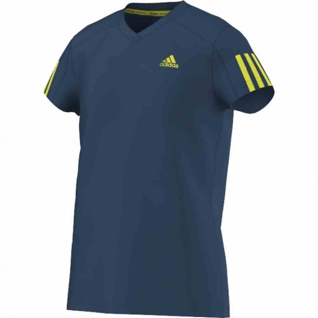 Adidas T-Shirt Club Junior Bleu   My-squash.com