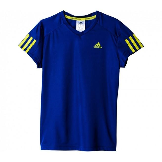 Adidas T-Shirt Club Junior Bleu | My-squash.com