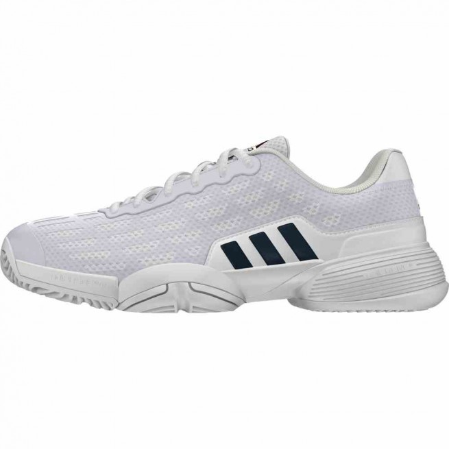 Adidas Barricade 2016 XJ Junior White Squash shoes | My-squash.com