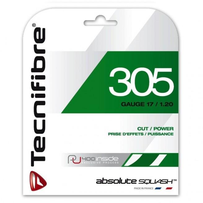 Tecnifibre 305 Squash Green 1.20mm 9.5m Squash string | My-squash.com
