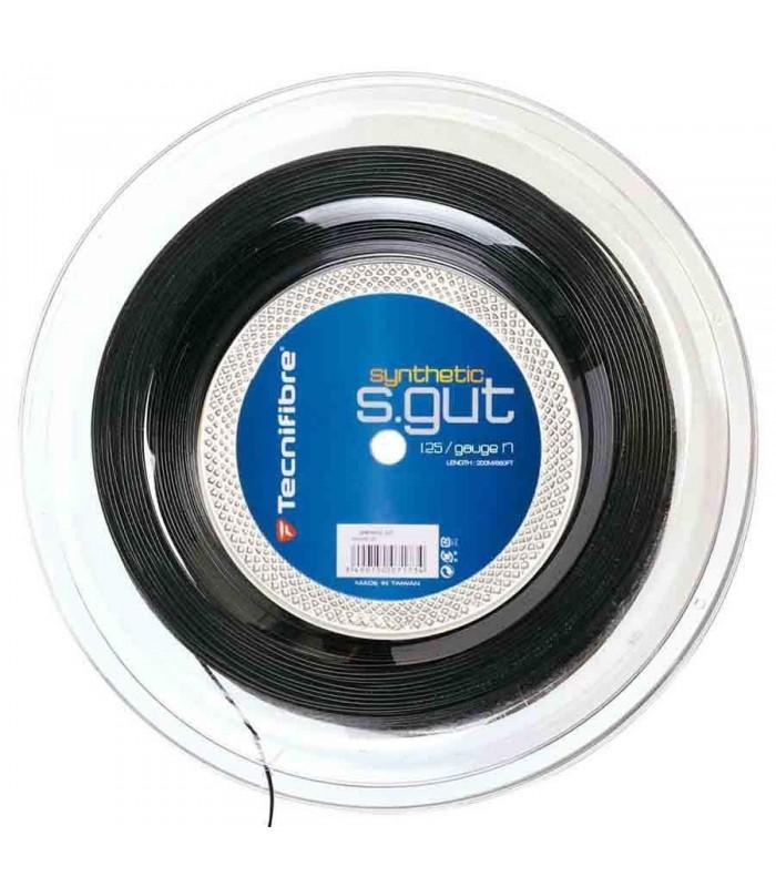 Tecnifibre Synthetic Gut 1.25mm 200m Black squash reel