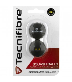 Tecnifibre Absolute Double Yellow Squash Balls x2 | My-squash.com
