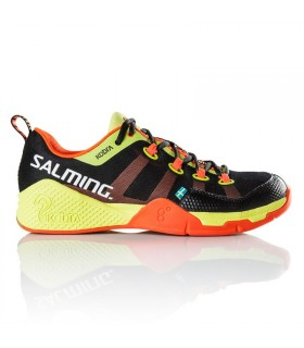 Chaussure squash Salming Kobra Noir / Shock Orange | My-squash.com