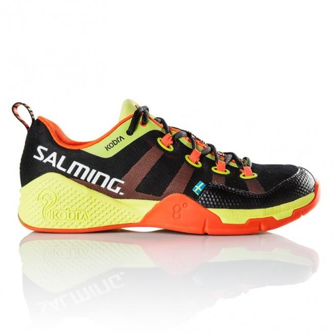 Salming Kobra Black / Shock Orange Squash shoes | My-squash.com