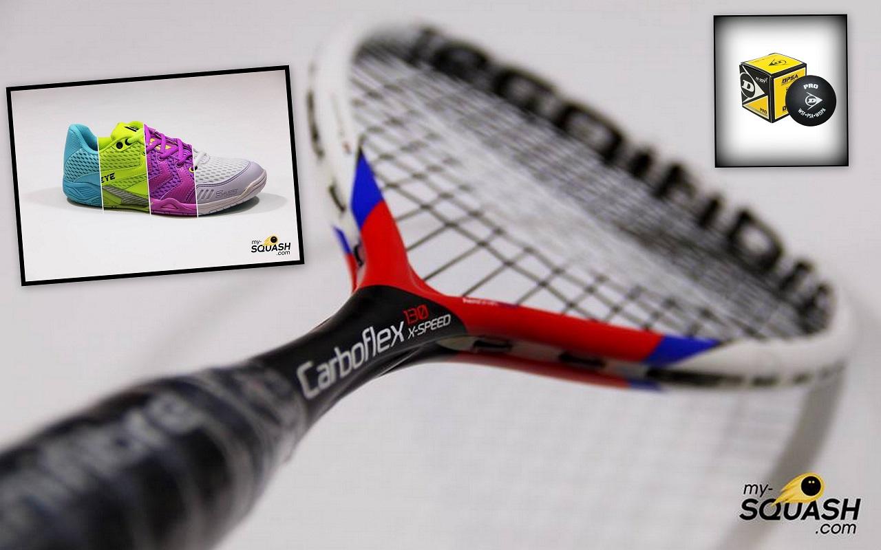 le mat riel indispensable pour jouer au squash. Black Bedroom Furniture Sets. Home Design Ideas